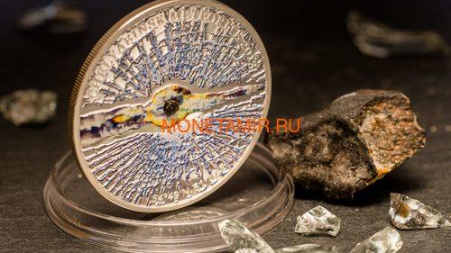 Острова Кука 5 долларов 2013 Челябинский метеорит (Cook Islands 5$ 2013 Chelyabinsk meteorite).Арт.60 (фото, вид 1)