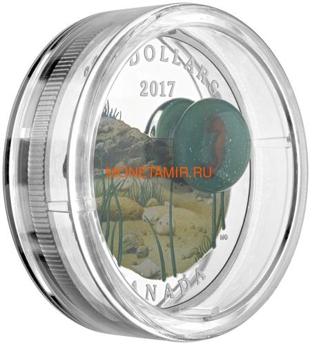 Канада 20 долларов 2017 Морской Конек серия Под водой 3D Капля (Canada 20C$ 2017 Under the Sea Sea Horse).Арт.60 (фото, вид 2)