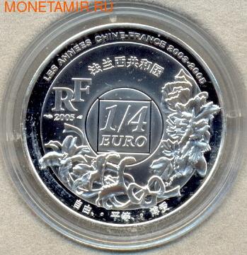 Франция 1/4 евро 2008. Шанхай (фото, вид 1)