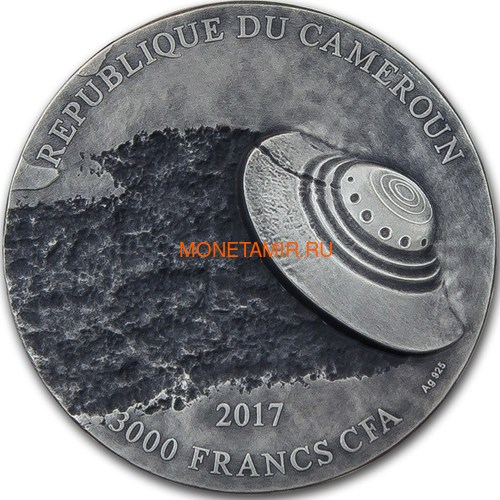 Камерун 3000 франков 2017 Розуэлльский инцидент НЛО (Cameroun 3000FCFA 2017 70Y Roswell UFO Incident).Арт.60 (фото, вид 1)