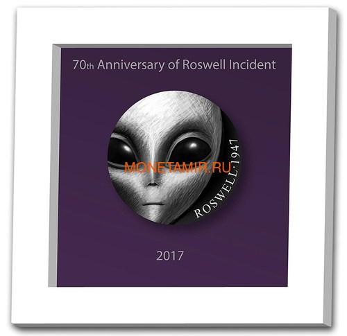Камерун 3000 франков 2017 Розуэлльский инцидент НЛО (Cameroun 3000FCFA 2017 70Y Roswell UFO Incident).Арт.60 (фото, вид 2)
