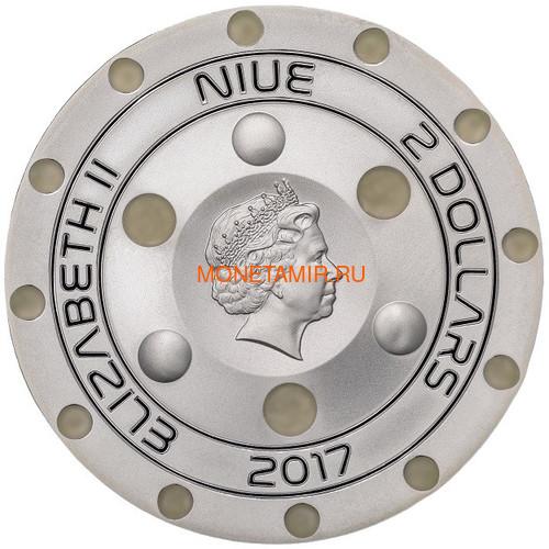 Ниуэ 2 доллара 2017 Розуэлльский инцидент НЛО (Niue 2$ 2017 70Y Roswell UFO Incident).Арт.60 (фото, вид 3)