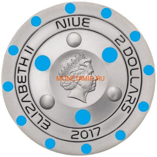 Ниуэ 2 доллара 2017 Розуэлльский инцидент НЛО (Niue 2$ 2017 70Y Roswell UFO Incident).Арт.60 (фото, вид 4)