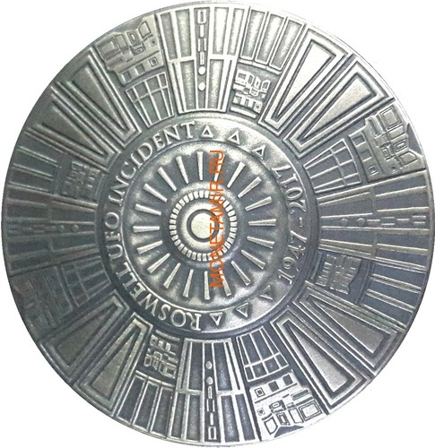 Буркина Фасо 2x1000 франков 2017 Розуэлльский инцидент - Инопланетянин НЛО (Burkina Faso 2x1000FCFA 2017 Roswell UFO Incident 2 coin Set).Арт.000784954896/60 (фото, вид 4)