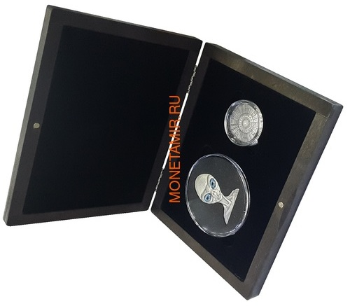 Буркина Фасо 2x1000 франков 2017 Розуэлльский инцидент - Инопланетянин НЛО (Burkina Faso 2x1000FCFA 2017 Roswell UFO Incident 2 coin Set).Арт.000784954896/60 (фото, вид 6)