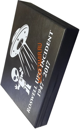 Буркина Фасо 2x1000 франков 2017 Розуэлльский инцидент - Инопланетянин НЛО (Burkina Faso 2x1000FCFA 2017 Roswell UFO Incident 2 coin Set).Арт.000784954896/60 (фото, вид 7)