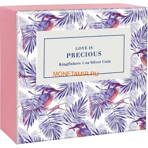 Ниуэ 2 доллара 2018 Любовь – Зимородки (сердце цирконий) Niue 2$ 2018 Love is Precious Kingfishers.Арт.60 (фото, вид 3)