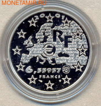 Франция 6,55957 франков 2001. Равенство (фото, вид 1)