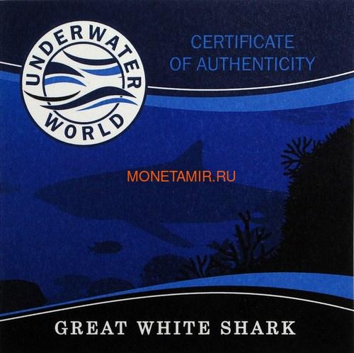 Барбадос 5 долларов 2018 Большая Белая Акула Подводный Мир (Barbados 5$ 2018 Great White Shark Underwater World).Арт.60 (фото, вид 6)