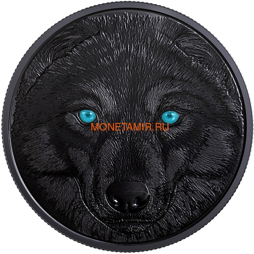 Канада 15 долларов 2017 Волк (Canada 15$ 2017 Glow-In-The-Dark Coin Wolf).Арт.60 (фото, вид 1)