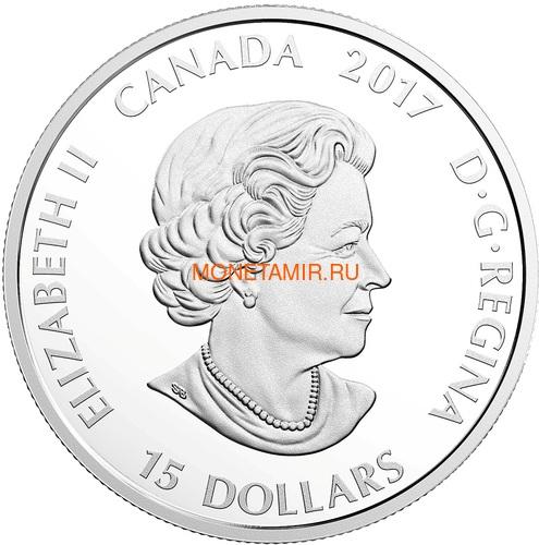 Канада 15 долларов 2017 Волк (Canada 15$ 2017 Glow-In-The-Dark Coin Wolf).Арт.60 (фото, вид 2)