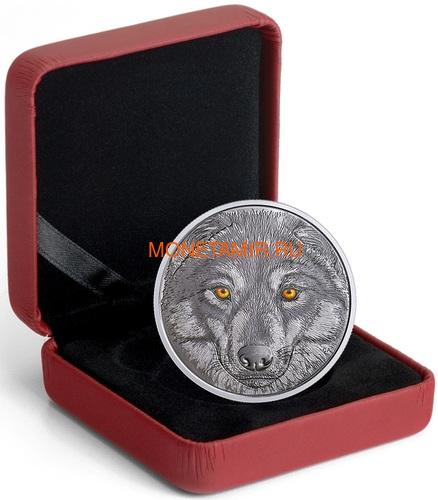 Канада 15 долларов 2017 Волк (Canada 15$ 2017 Glow-In-The-Dark Coin Wolf).Арт.60 (фото, вид 3)