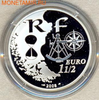 """Франция 1,5 евро 2008. Корабль """"Аманда"""" (фото, вид 1)"""