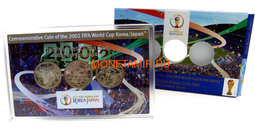 Япония 3x500 йен 2002 Футбол ФИФА 2002 Чемпионат мира в Корее и Японии (Japan 3x500y 2002 Football FIFA World Cup 2002 Korea Japan coin set).Арт.000342440562/60 (фото, вид 5)
