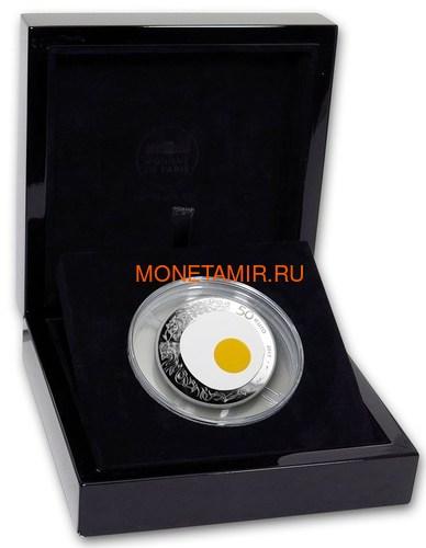 Франция 50 евро 2017 Ги Савой Яичница серия Коллекция Французского Совершенства (France 50E 2017 French Excellence Guy Savoy 5oz Silver Coin).Арт.92 (фото, вид 3)