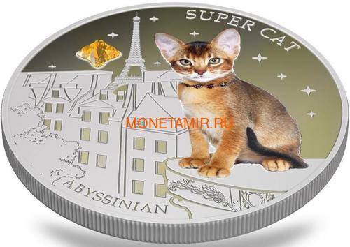 Фиджи 2 доллара 2013 Абиссинская кошка - Супер кошка серия Собаки и Кошки (Fiji 2$ 2013 Super Cat Abyssinian Dogs and Cats).Арт.000405649010/60 (фото, вид 2)
