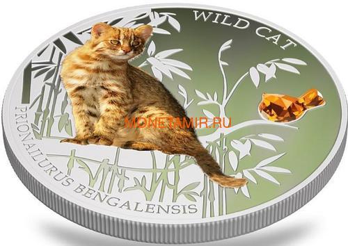 Фиджи 2 доллара 2013 Бенгальская кошка - Дикая кошка серия Собаки и Кошки (Fiji 2$ 2013 Wild Cat Prionailurus Bengalesis Dogs and Cats).Арт.000405649006/60 (фото, вид 2)