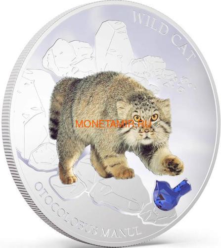Фиджи 2 доллара 2013 Манул - Дикая кошка серия Собаки и Кошки (Fiji 2$ 2013 Wild Cat Otocolobus Manul Dogs and Cats).Арт.000405649004/60 (фото, вид 1)