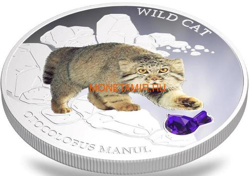 Фиджи 2 доллара 2013 Манул - Дикая кошка серия Собаки и Кошки (Fiji 2$ 2013 Wild Cat Otocolobus Manul Dogs and Cats).Арт.000405649004/60 (фото, вид 2)