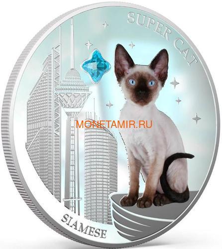 Фиджи 2 доллара 2013 Сиамская - Супер кошка серия Собаки и Кошки (Fiji 2$ 2013 Super Cat Siamese Dogs and Cats).Арт.000405649008/60 (фото, вид 1)