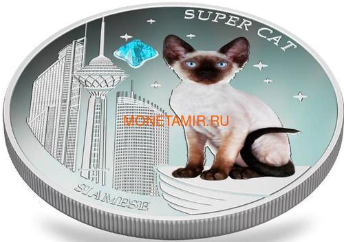 Фиджи 2 доллара 2013 Сиамская - Супер кошка серия Собаки и Кошки (Fiji 2$ 2013 Super Cat Siamese Dogs and Cats).Арт.000405649008/60 (фото, вид 2)