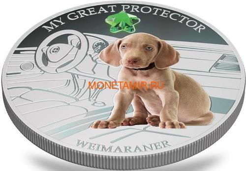 Фиджи 2 доллара 2013 Веймаранер – Мой защитник серия Собаки и Кошки (Fiji 2$ 2013 Dog My Great Protector Weimaraner Dogs and Cats).Арт.000405648996/60 (фото, вид 2)
