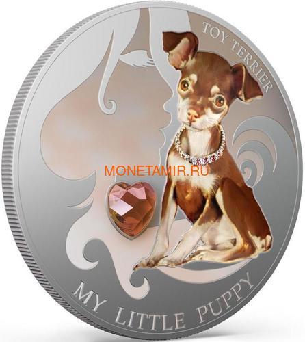 Фиджи 2 доллара 2013 Той терьер – Мой маленький щенок серия Собаки и Кошки (Fiji 2$ 2013 Dog My little Puppy Toy Terrier Dogs and Cats).Арт.000405648988/60 (фото, вид 1)
