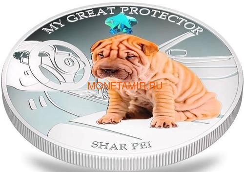 Фиджи 2 доллара 2013 Шарпей – Мой лучший друг серия Собаки и Кошки (Fiji 2$ 2013 Dog My Great Protector Shar Pei Dogs and Cats).Арт.000405648998/60 (фото, вид 2)
