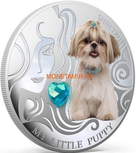 Фиджи 2 доллара 2013 Ши-Тцу – Мой маленький щенок серия Собаки и Кошки (Fiji 2$ 2013 Dog My little Puppy Shi Tzu Dogs and Cats).Арт.000405648990/60 (фото, вид 1)