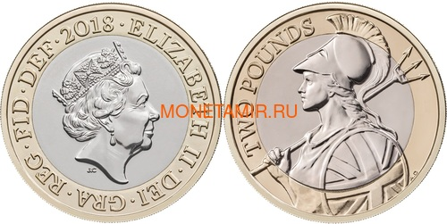 Великобритания Полный годовой набор 2018 (The 2018 UK Brilliant Uncirculated Annual Coin Set).Арт.60 (фото, вид 7)
