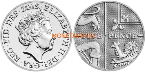 Великобритания Полный годовой набор 2018 (The 2018 UK Brilliant Uncirculated Annual Coin Set).Арт.60 (фото, вид 12)