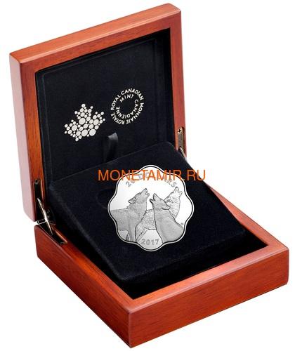 Канада 20 долларов 2017 Лесной Волк Эксклюзивная серия Мастер Клуб (Лотос) Canada 20$ 2017 EXCLUSIVE Masters Club Coin Series Timber Wolf.Арт.60 (фото, вид 2)