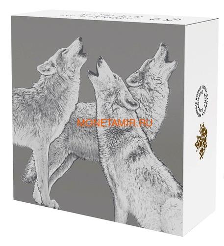 Канада 20 долларов 2017 Лесной Волк Эксклюзивная серия Мастер Клуб (Лотос) Canada 20$ 2017 EXCLUSIVE Masters Club Coin Series Timber Wolf.Арт.60 (фото, вид 3)
