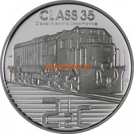 Южная Африка 2 ранда + 2,5 цента 2013 Дизель-Электровоз – Поезда Южной Африки Набор из двух монет (Silver Proof Combo Set R2 and 2,5c 2013 South Africa Trains of South Africa Diesel Electric Locomotives).Арт.000908444873/60 (фото, вид 3)