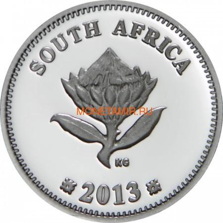 Южная Африка 2 ранда + 2,5 цента 2013 Дизель-Электровоз – Поезда Южной Африки Набор из двух монет (Silver Proof Combo Set R2 and 2,5c 2013 South Africa Trains of South Africa Diesel Electric Locomotives).Арт.000908444873/60 (фото, вид 4)