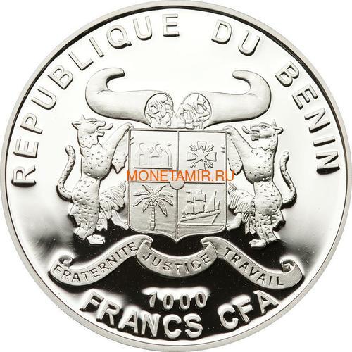 Бенин 1000 франков 2012 Маяк Линдау (Benin 1000 Francs 2012 Lindau lighthouse).Арт.60 (фото, вид 1)