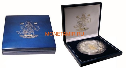 Либерия 100 долларов 2001 Гуаньинь Богиня Любви Пазл Килограмм (Liberia 2001 100$ Puzzle Coin Lady Kuan Yin 1kg).Арт.60 (фото, вид 2)