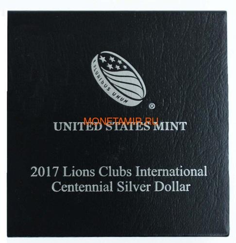 Соединенные Штаты Америки 1 доллар 2017 Международный Клуб Львов (2017 US 1$ Lions Club International Centennial Proof).Арт.000370153838/60 (фото, вид 3)