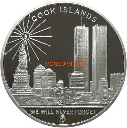Острова Кука 2х1 доллар 2008 Башни Близнецы и Башня Свободы Набор из двух монет (2008 Cook Islands $1 Twin Towers Freedom Tower Silver 2 Coin Set National Collectors Mint).Арт.2000290312/60 (фото, вид 2)