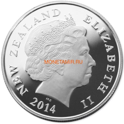 Новая Зеландия 1 доллар 2014 Хоббит Битва пяти воинств Дом Бильбо Дверь (New Zealand 1$ 2014 Hobbit The Battle of the Five Armies Bag End Silver Coin).Арт.000613950449/60 (фото, вид 1)
