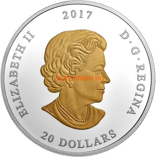 Канада 20 долларов 207 Атлантическая морская звезда Маяк (Canada 20C$ 2017 From Sea To Sea Atlantic Starfish).Арт.60 (фото, вид 1)