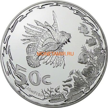 Южная Африка 85 центов 2013 Крылатка Черепаха Латимерия Рыба Клоун Морские животные Охрана морских территорий Набор 4 монеты (South Africa 85c 2013 Marine Areas 4 coin Prestige Set).Арт.002201444026/60 (фото, вид 1)