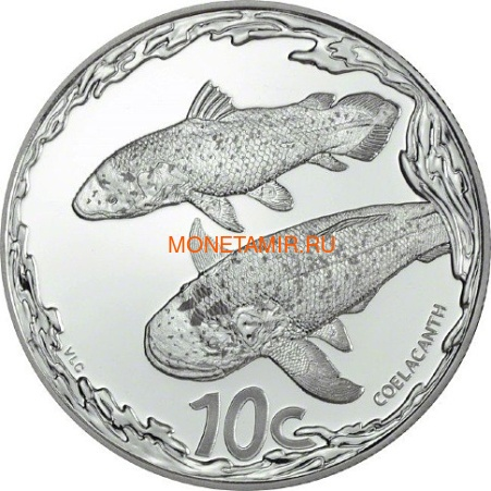 Южная Африка 85 центов 2013 Крылатка Черепаха Латимерия Рыба Клоун Морские животные Охрана морских территорий Набор 4 монеты (South Africa 85c 2013 Marine Areas 4 coin Prestige Set).Арт.002201444026/60 (фото, вид 3)