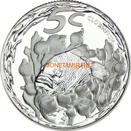 Южная Африка 85 центов 2013 Крылатка Черепаха Латимерия Рыба Клоун Морские животные Охрана морских территорий Набор 4 монеты (South Africa 85c 2013 Marine Areas 4 coin Prestige Set).Арт.002201444026/60 (фото, вид 4)