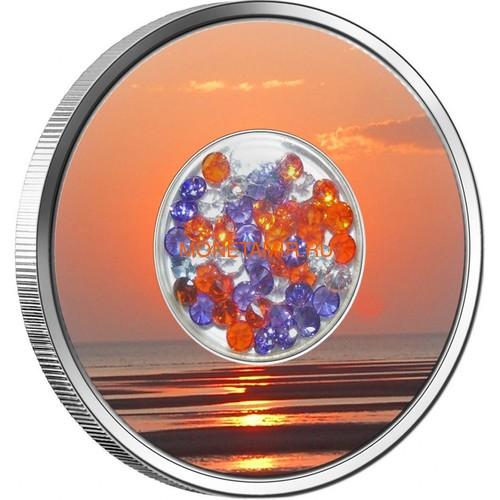 Фиджи 10 долларов 2012 Бриллиантовый закат (Fiji 10$ 2012 Diamond Sunset).Арт.000330941603/60 (фото, вид 1)