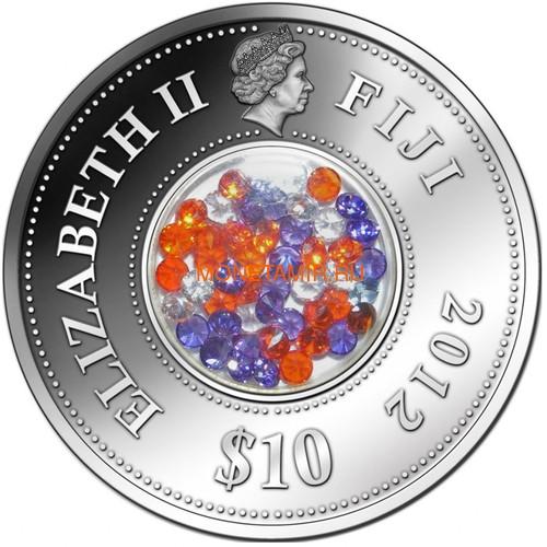 Фиджи 10 долларов 2012 Бриллиантовый закат (Fiji 10$ 2012 Diamond Sunset).Арт.000330941603/60 (фото, вид 2)