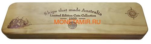 Острова Кука 5х5 долларов 1999 Корабли которые сделаны в Австралии Набор 5 монет (Cook Islands 5 Coins Set 1999 Ships that made Australia 2oz).Арт.001784155371/60 (фото, вид 7)