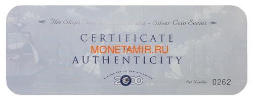 Острова Кука 5х5 долларов 1999 Корабли которые сделаны в Австралии Набор 5 монет (Cook Islands 5 Coins Set 1999 Ships that made Australia 2oz).Арт.001784155371/60 (фото, вид 8)