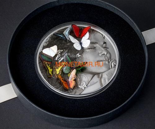 Палау 20 долларов 2018 Экзотические Бабочки 3D (Palau 20$ 2018 Exotic Butterflies Dream Edition 3D).Арт.60 (фото, вид 2)