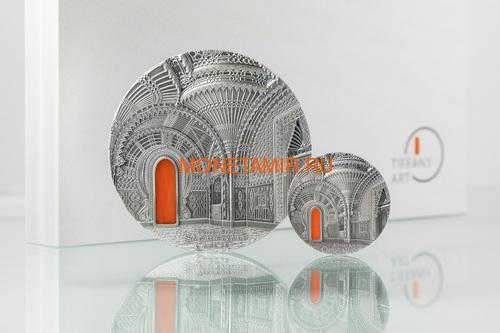 Палау 10 долларов 2018 Замок Саммеццано Ориентализм серия Тиффани (Palau 10$ 2018 Castle of Sammezzano Orientalism Tiffany Art).Арт.60 (фото, вид 2)